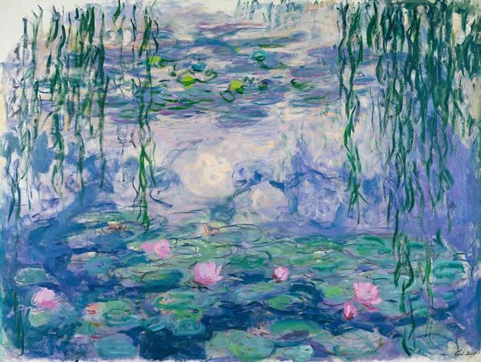 monet water lilies 1916-19