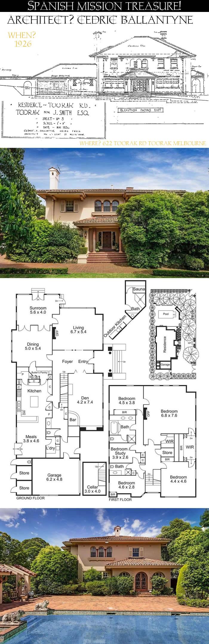 spanish mission revival architecture 622 toorak rd toorak