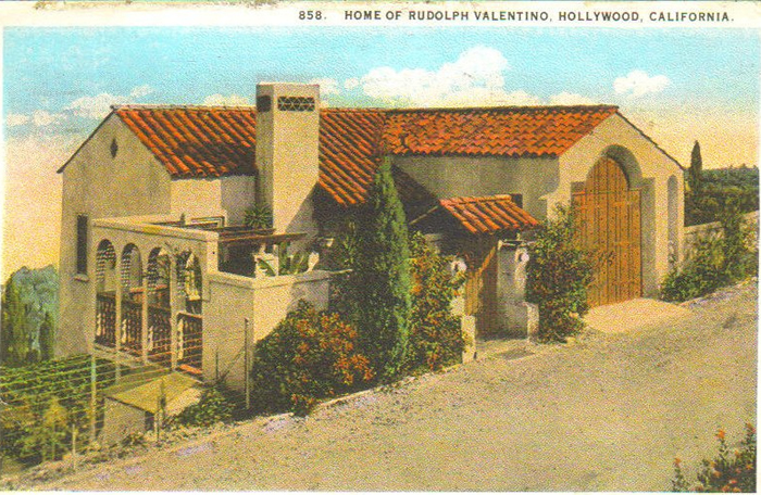 home of rudolph valentino hollywood spanish revival