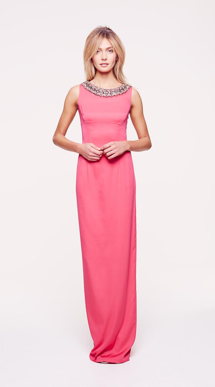 pink maxi dress ColletteDinnigan