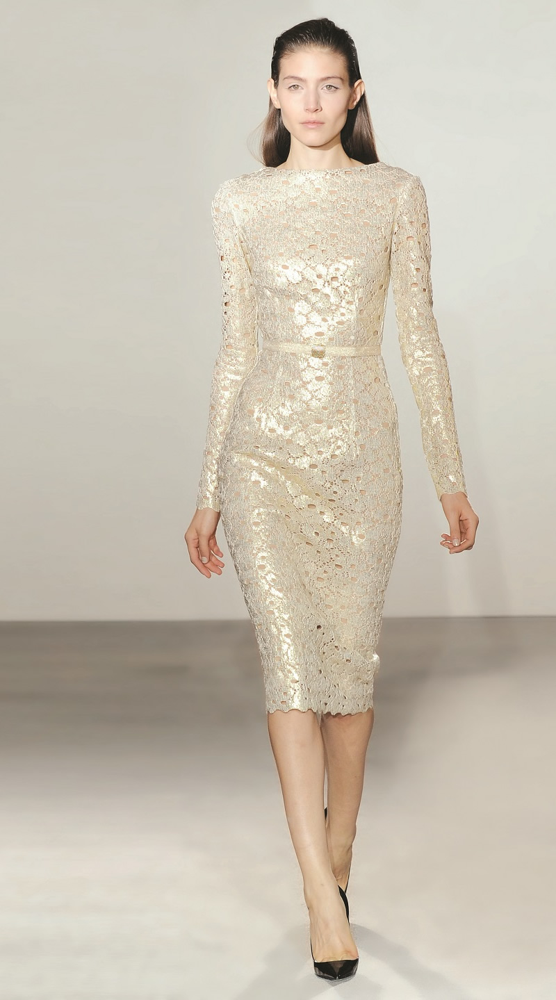 collette dinnigan sparkle french lace dress