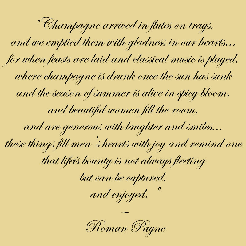 champagne quote by roman payne