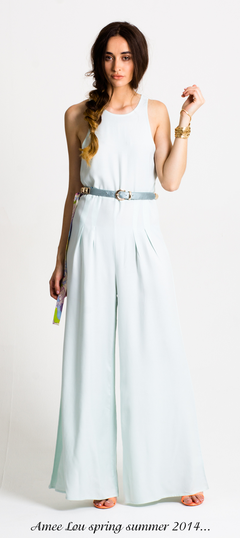 amee lou ss 2014 pale blue jump suit