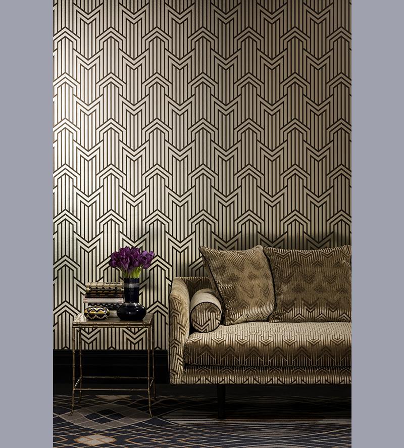 wallpaper mokum metropolis limelight velvet