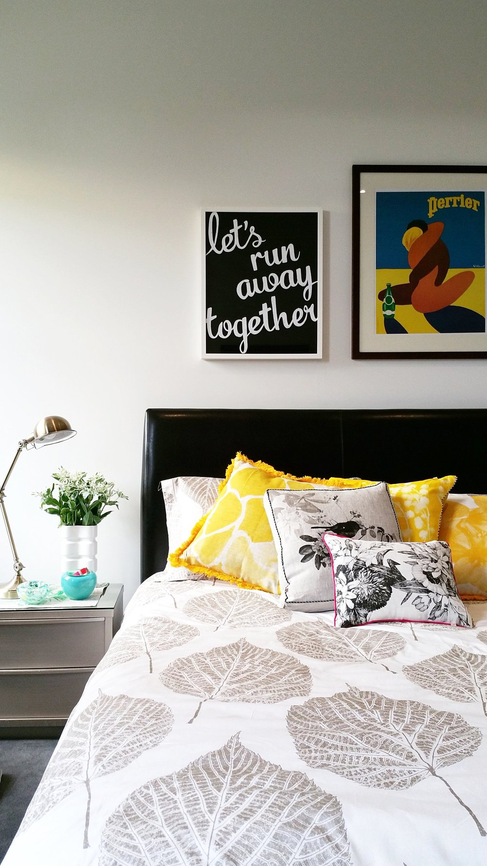 Bonnie & Neil hand printed cushions - add a gentle splash of pattern and colourto the main bedroom.