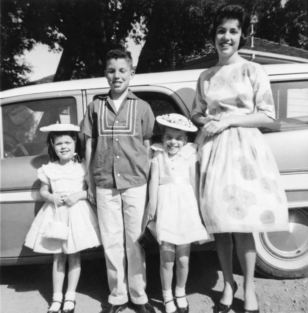 My mom (left) in her Easter Sunday best with her siblings