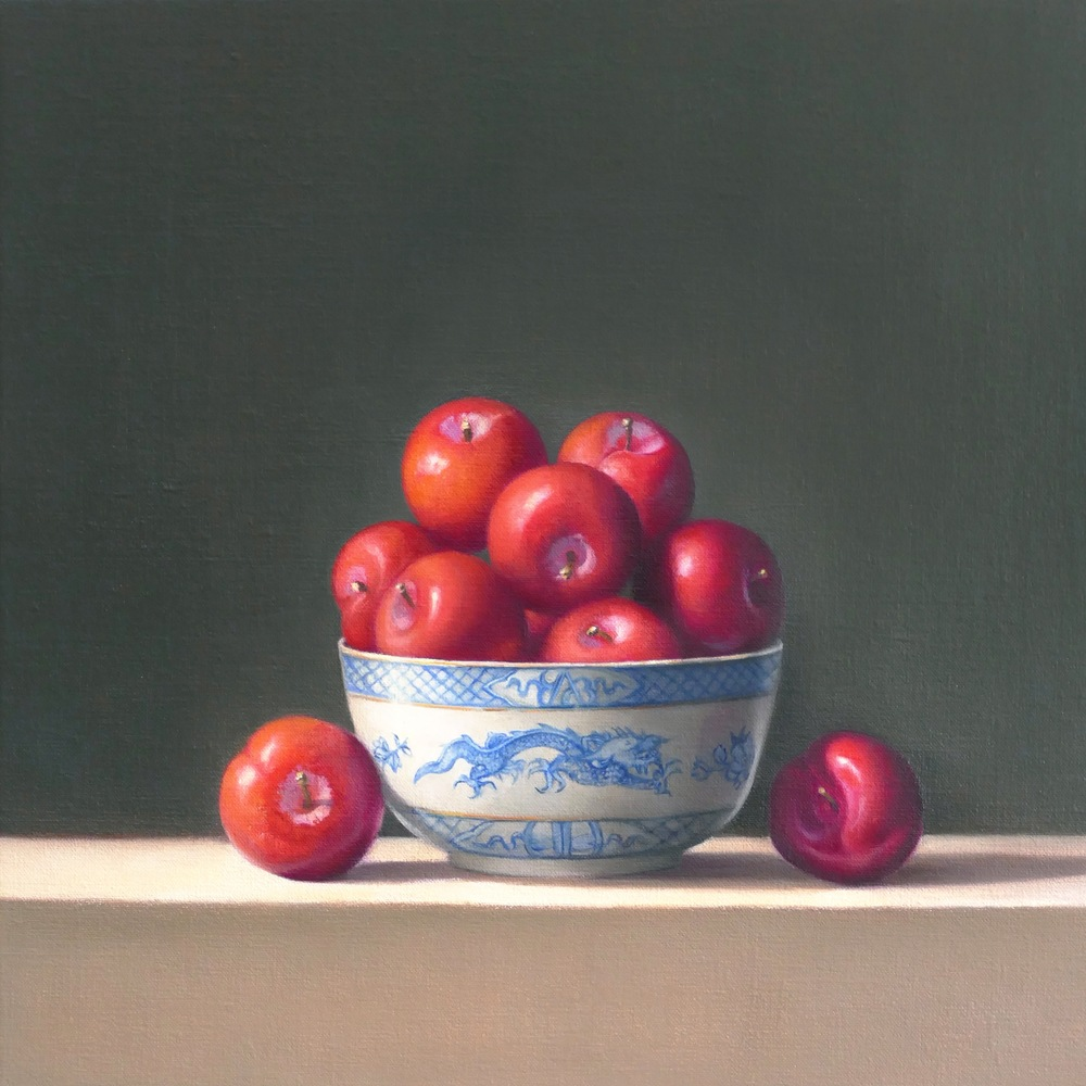 Plums.Oil on Linen.35x35cm Private Collection
