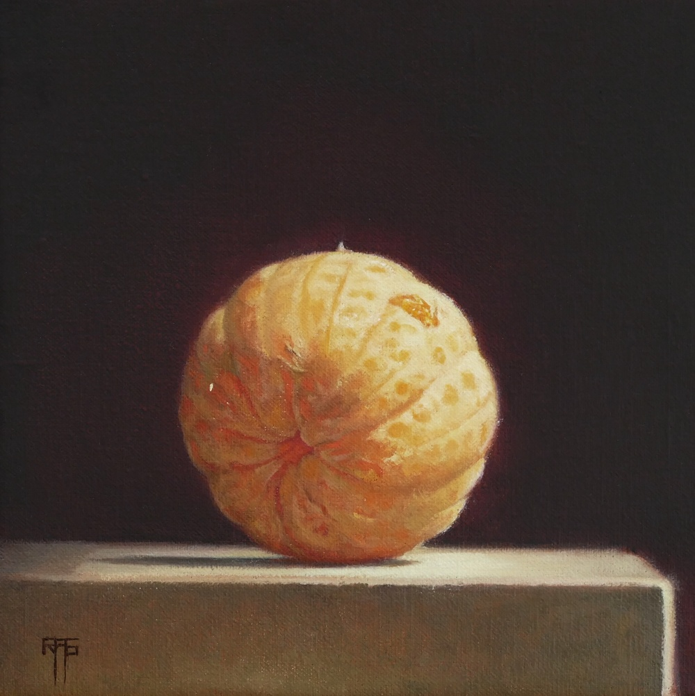 Orange. Oil on Linen. 20x20cm. Private Collection