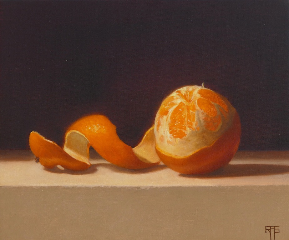 Orange. Oil on linen. 25x30 cm