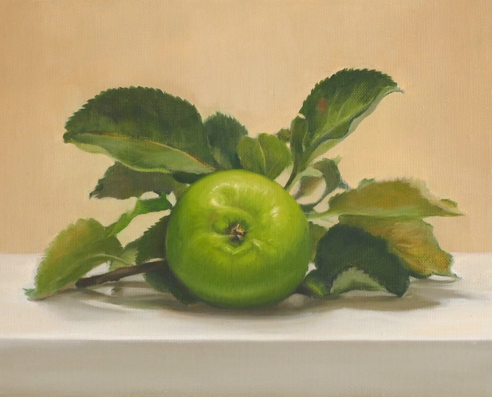 Grany Smith. Oil on linen. 24x30cm. Available at Paragon Gallery
