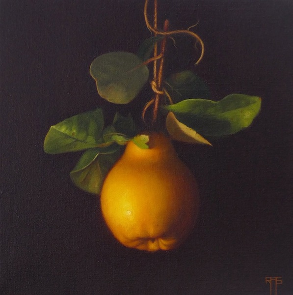 Quince. Oil on linen. 30x30 cm. Available, contact the artist
