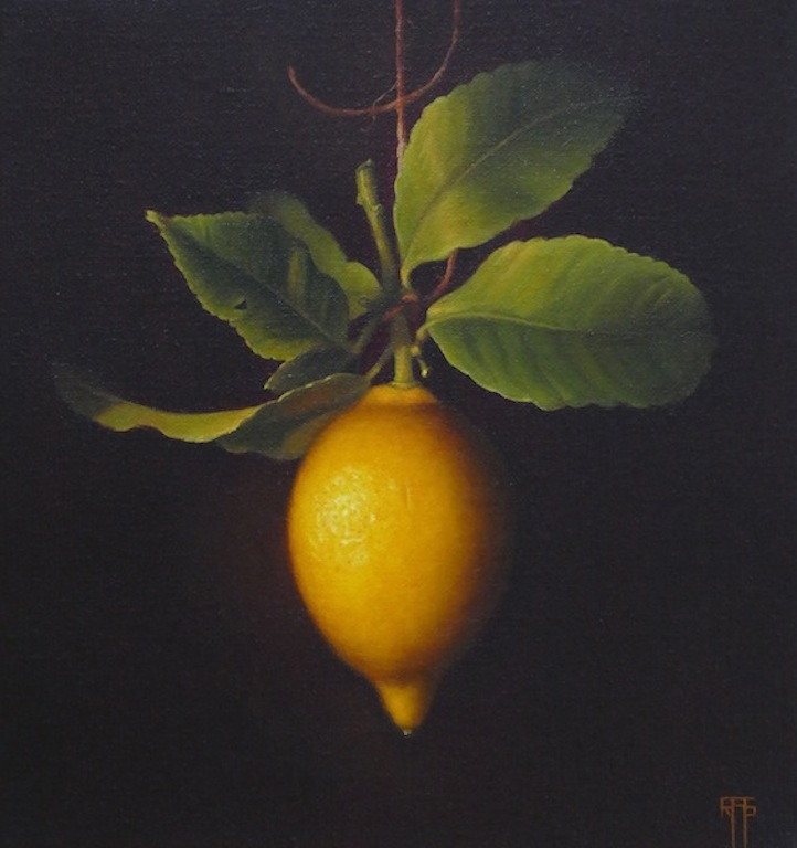Lemon. Oil on Linen. 30x30 cm. Available, contact the artists