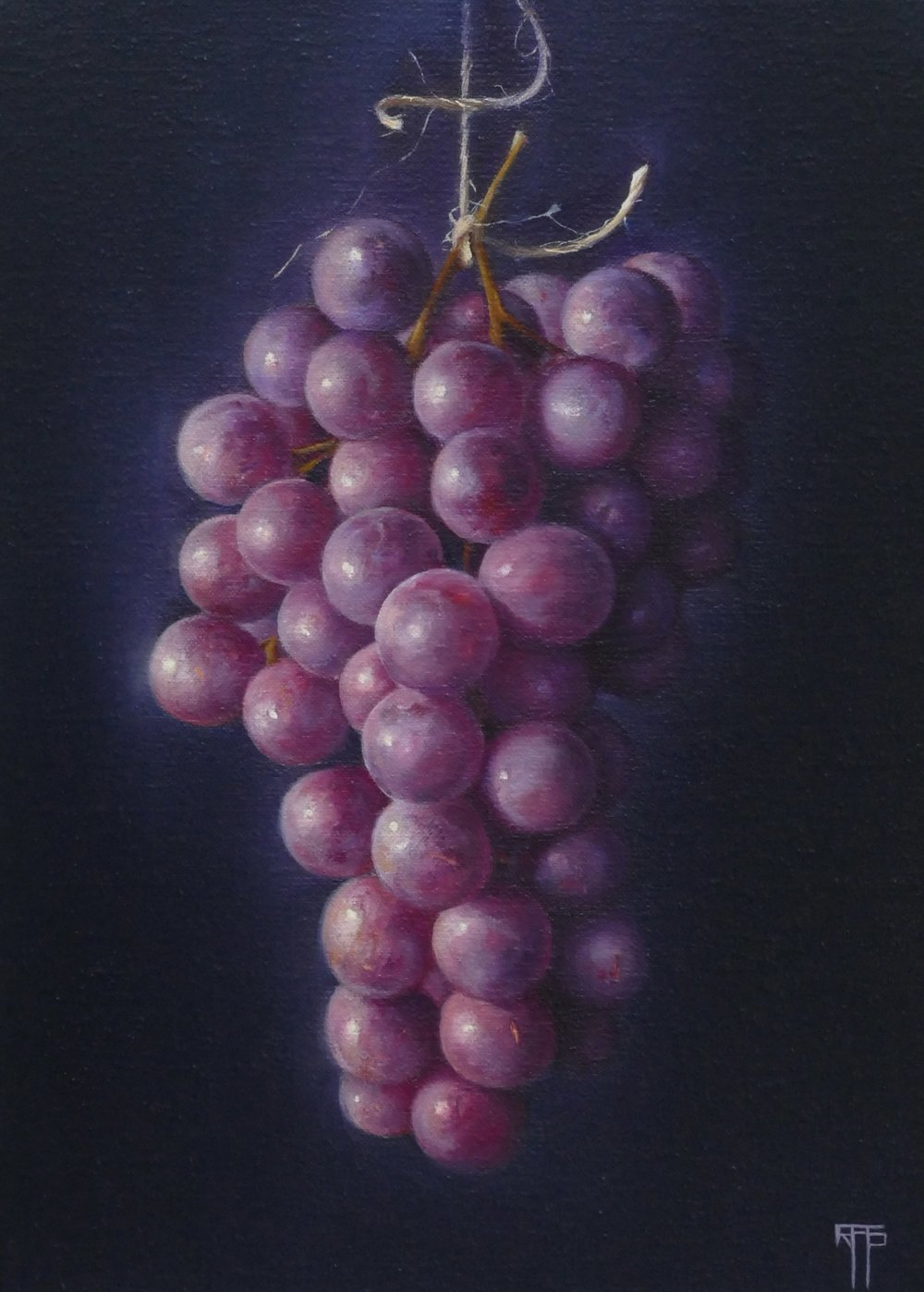Grapes. Oil on Linen. 32x23 cm