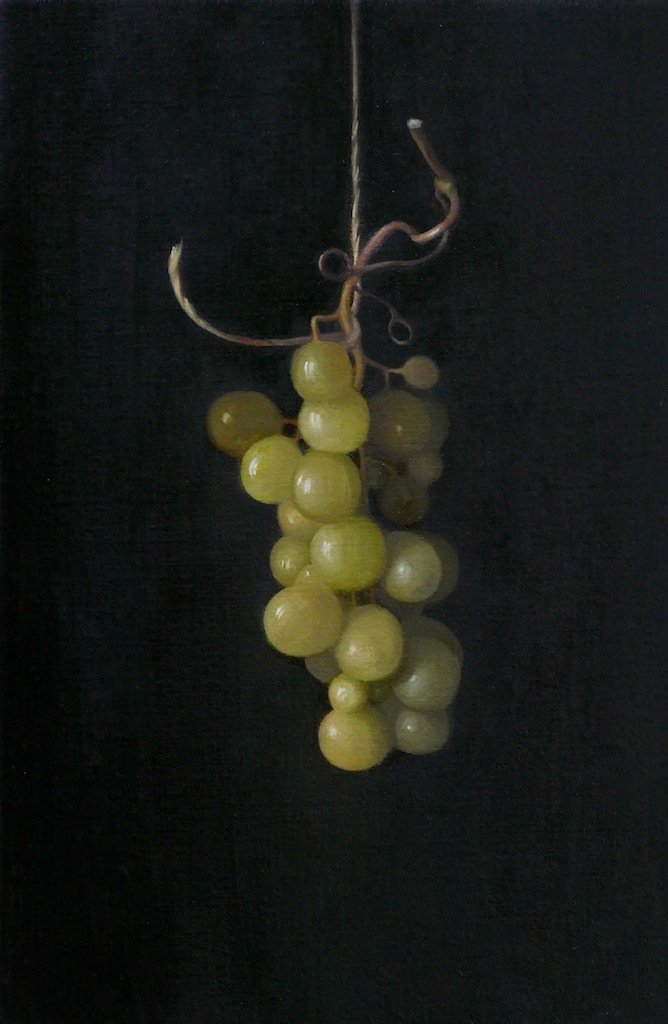 Grapes. Oil on linen. 30x20cm