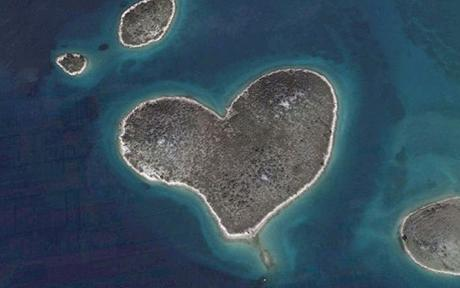The 130,000 square yard islet of Galesnjak, Croatia.