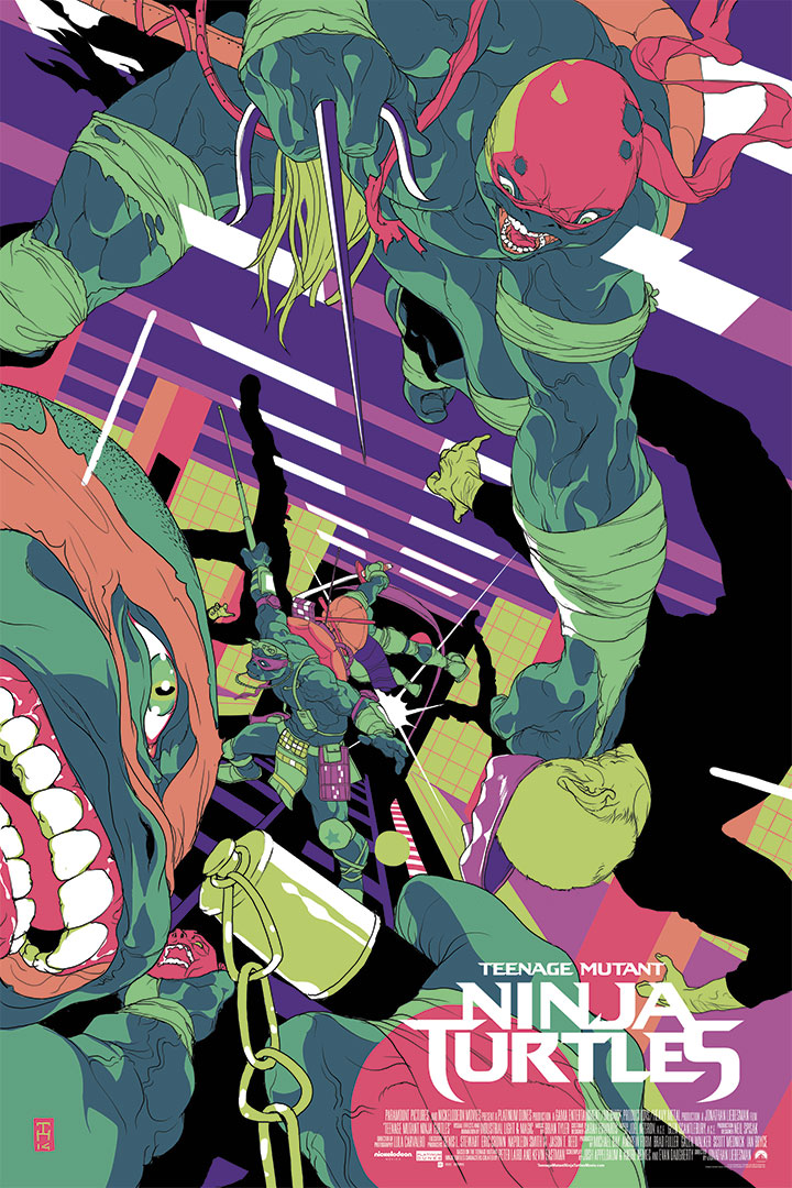 TMNT for Paramount, as part of the http://www.legendoftheyokai.com/ series, inspired by the TMNT move.
