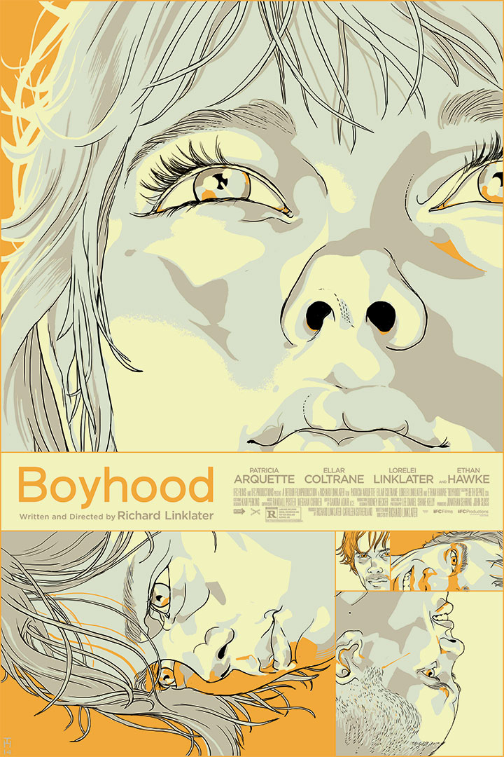 Boyhood Screen Print poster for Richard Linklater's Film Boyhood, via Mondo.