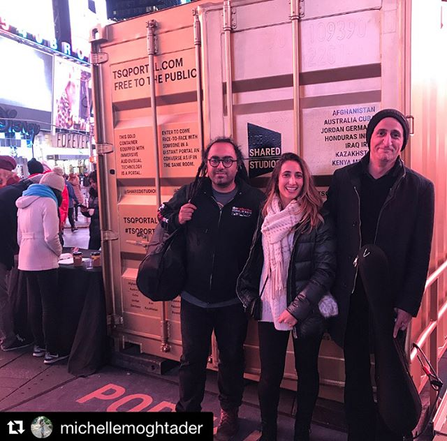 #Repost @michellemoghtader Last night was one of those special moments in the #TsqPortal where renowned musicians #MohsenNamjoo & Yahya Alkhansa performed with the talented singer and #setar player @s.hasib786 in the #HeratPortal. Thank you @tsqarts & @sharedstudios Portal curators for making this connection possible. 🔶 #sharedportals