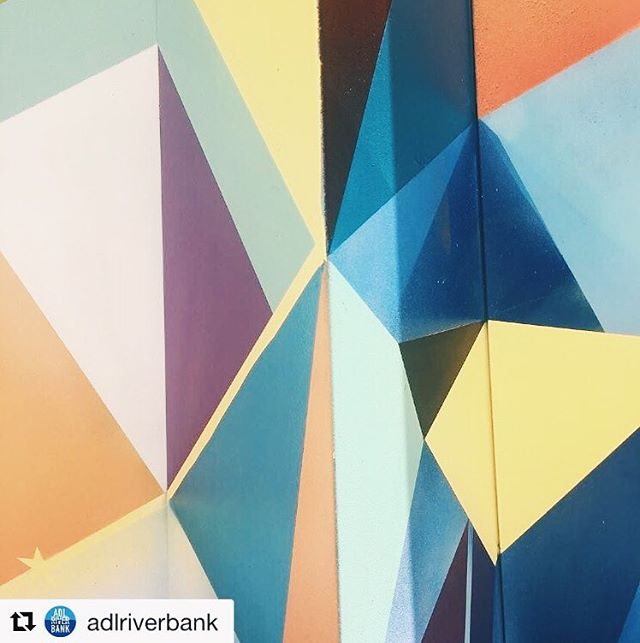 Admiring the artwork @adlriverbank 🎨 #repost Details. All that colour @vanstheomega we just love what you do! Look out for his tree for the @artofchristmas creative tree trail this feast I've season #ArtofChristmas #AdlRiverbank 🔶#sharedportals #connectingtheworld #adelaideportal #adelaideart