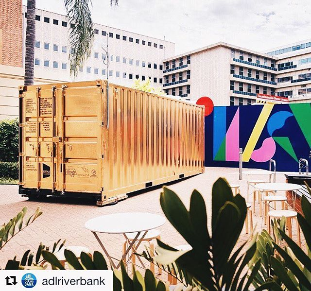 #Repost @adlriverbank Curious about what's inside this gold shipping container? Enter the Portal and arrive in Honduras, Colorado Springs, Afghanistan or Mexico (just to name a few). Find out more on the Adelaide Riverbank website bit.ly/2iDfgmr #AdlRiverbank #AdelaidePortal⠀
