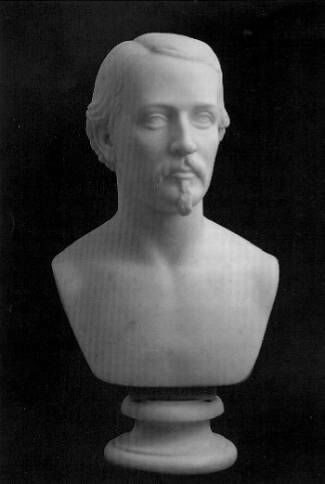 Lewis' famous bust of Colonel Robert Shaw (1864), who lead the all-black 54th Massachusetts regiment during the American Civil War. Shaw's family commissioned Lewis to create this bust, whose popularity spurred many plasters.