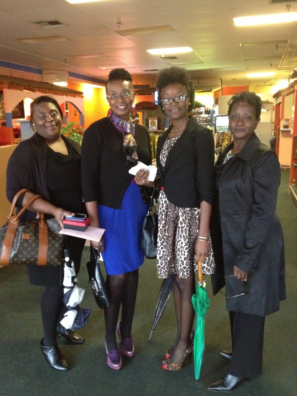 From left to right: God sister, Yolanda; Sonya; sister, LaSalle; mom, Carolyn