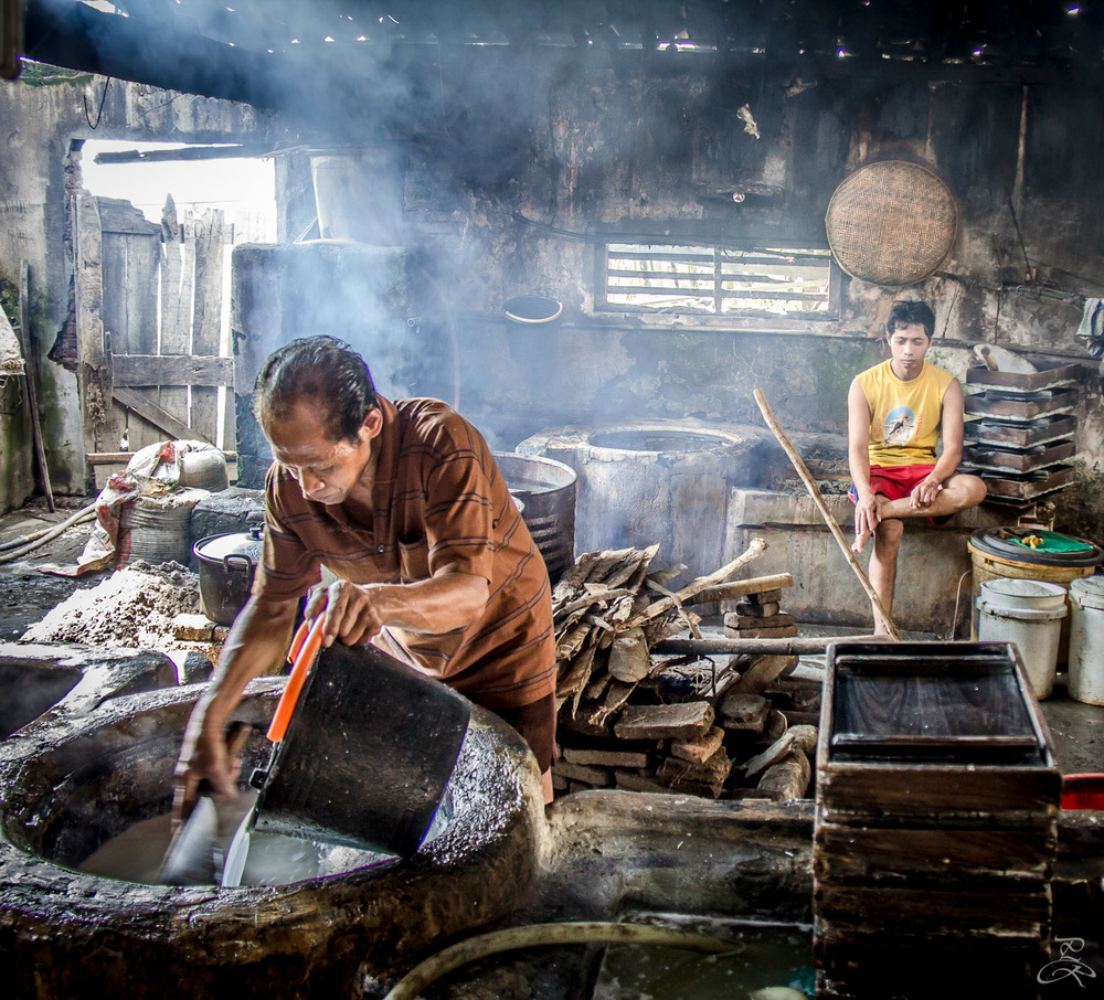 Tofu making near Karang, Java