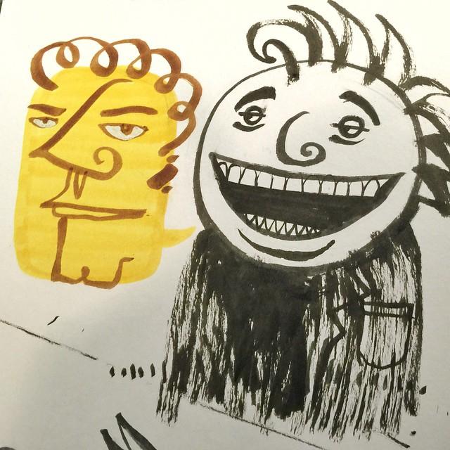 27/100 #100dayproject #ink #brush #pentel #character #drawing #sketch #marker #moleskine
