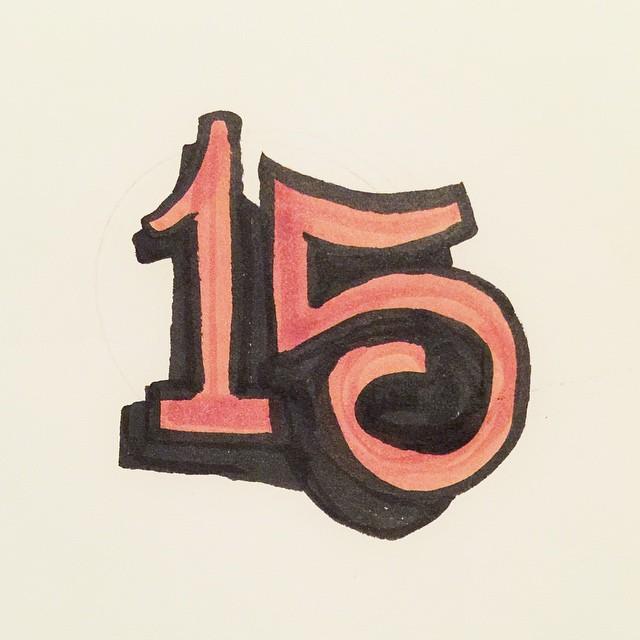 15 - 37/100 #100dayproject #ink #lettering #handlettering #pentel #brush #script