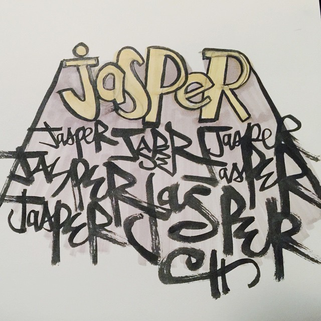 Some lazy Jasper script. #100dayproject #brush #pentel #winsornewton #script #sketch #drawing #doodle