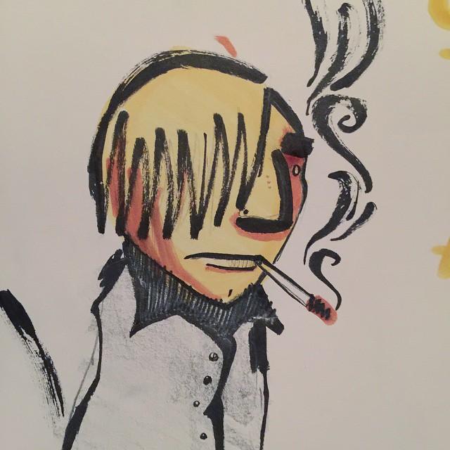 38/100 #100dayproject #brush #pentel #winsornewton #character #drawing #art #sketch