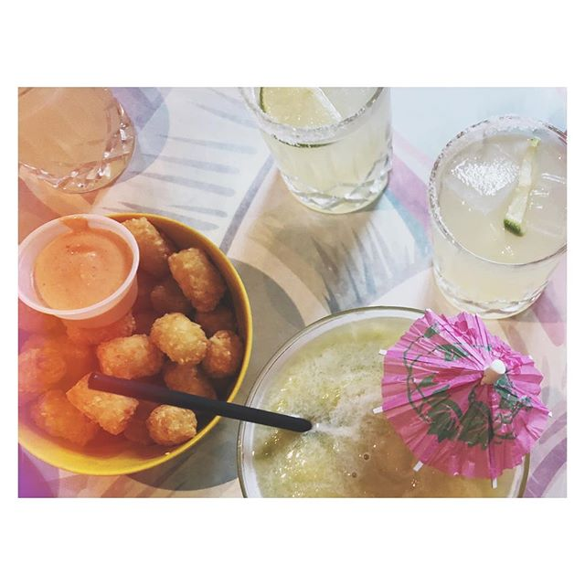 Several weeks ago I had tots+margs with my friends and I just thought I should let the internet know that happened.