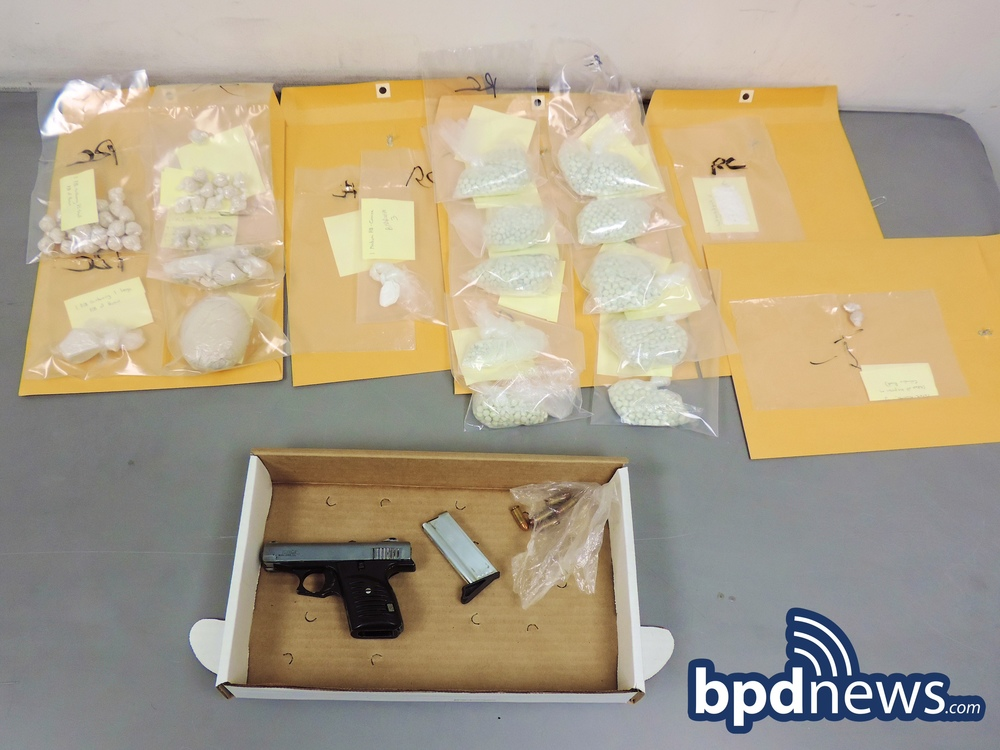 Drugs, Firearm, and Ammunition recovered
