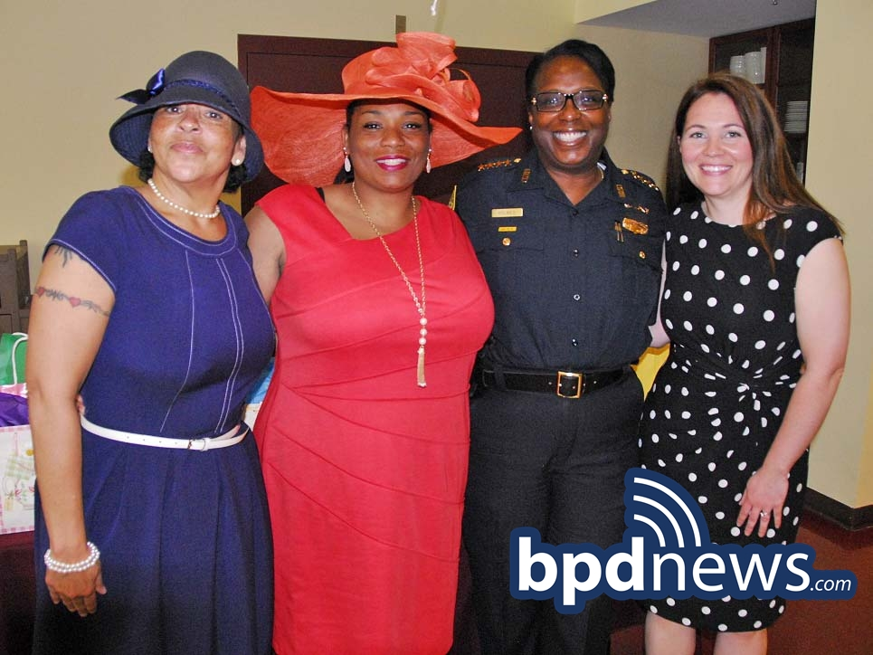 Pictured: Officer Marie Miller, Officer Cynthia Brewington, Superintendent Lisa Holmes and Officer Mary Courtney