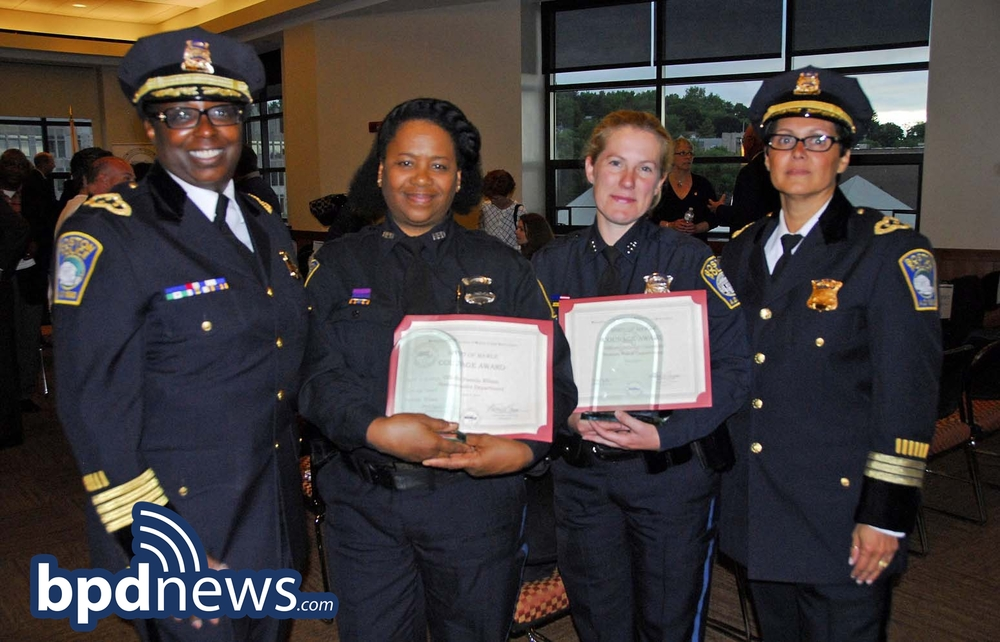 Pictured in the photo from left to right: Superintendent Lisa Holmes, Officer Wilson, Officer Connolly and Deputy Norma Ayala Leong