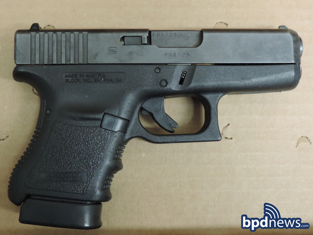 Glock 36 .45 caliber firearm courtesy of BPDNEWS.COM