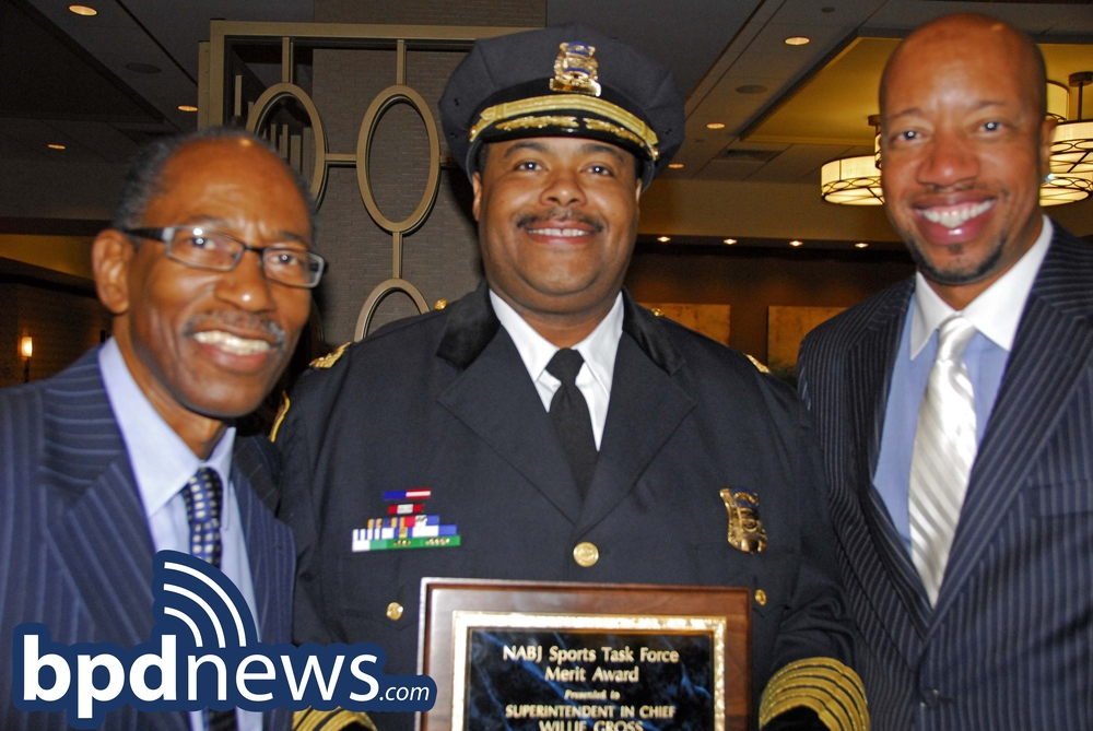 Pictured in the photo with Chief Gross is Ron Thomas (left) and Darrell Fry (right).