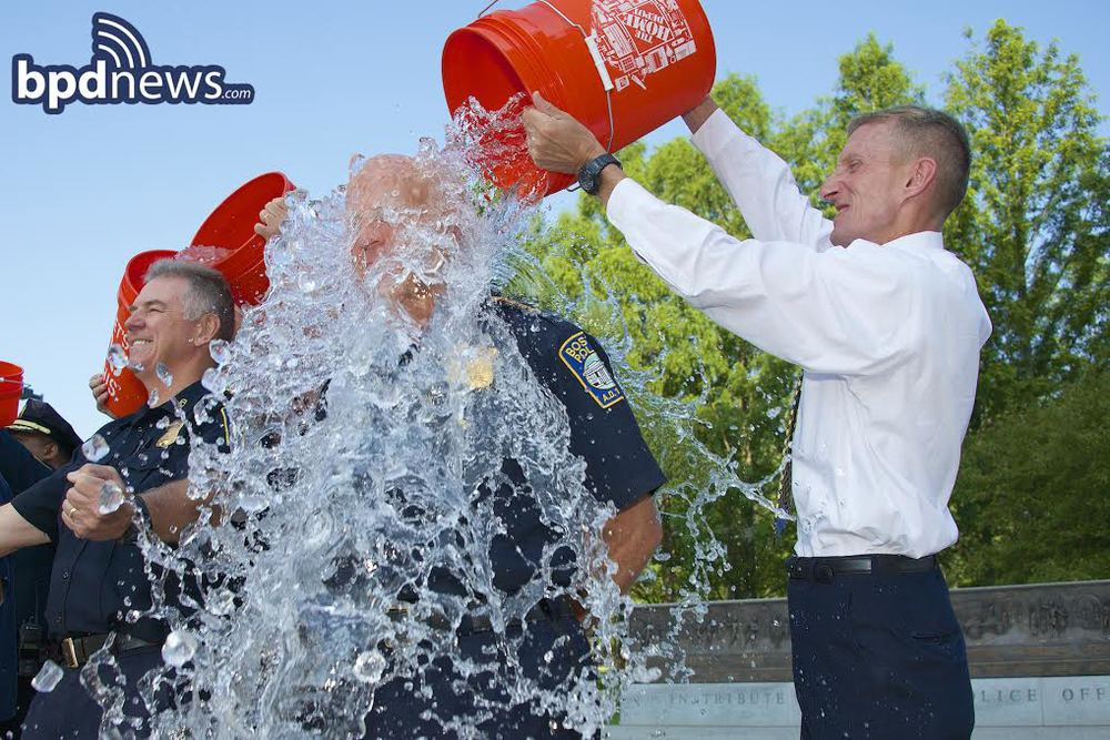 bpd in the news boston police officers accept the ice bucket