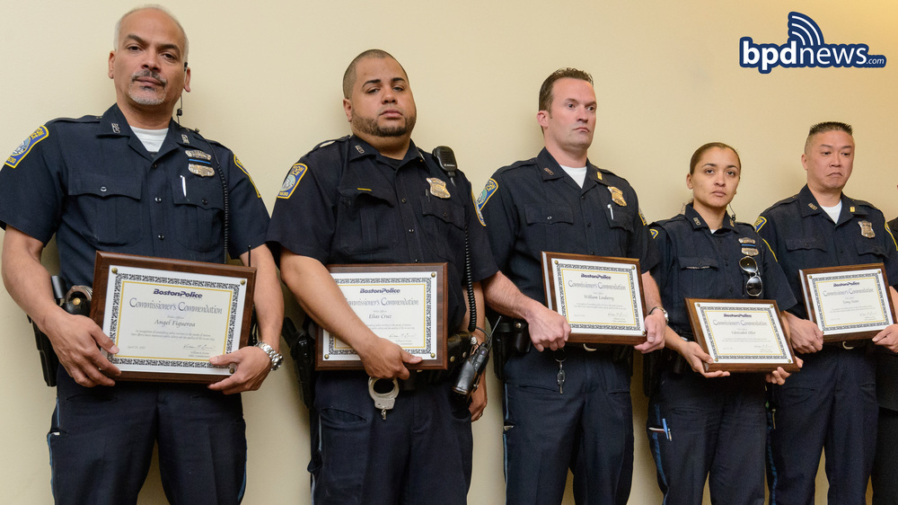 Police Officers Angel Figueroa, Elias Cruz. William Louberry, Ydritzabel Oller, Tony Szeto