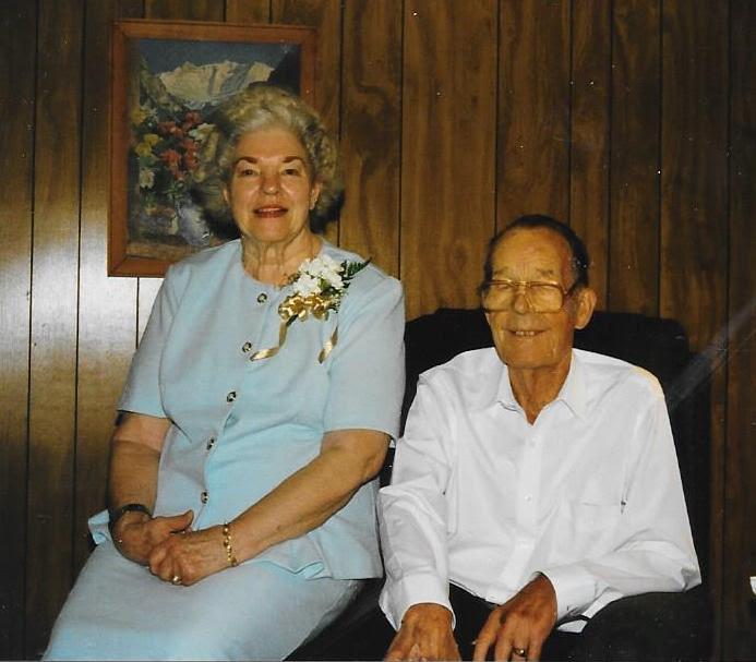 Aletha and Viggo Jensen (1996) at their 50th Wedding Anniversary
