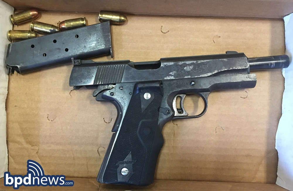 firearm recovered from juvenile suspect