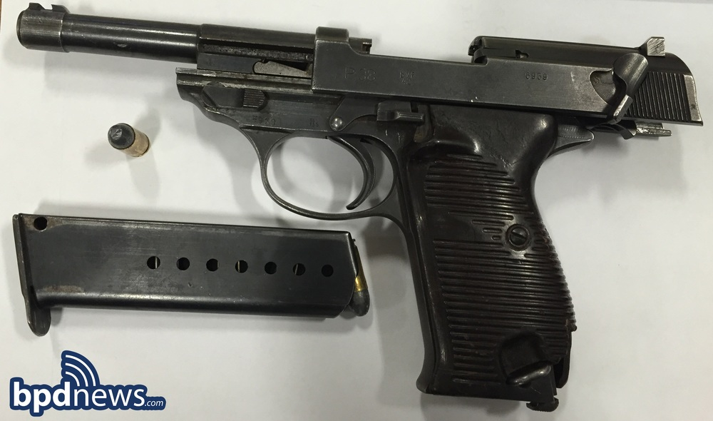 firearm recovered from adult suspect