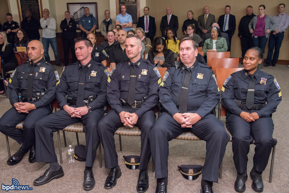 Pictured from left to right: Sgt. paul deleo , Sgt. Michael Deluca, Sgt. thomas Griffin, sgt. michael felton, and sgt. lanita cullinane