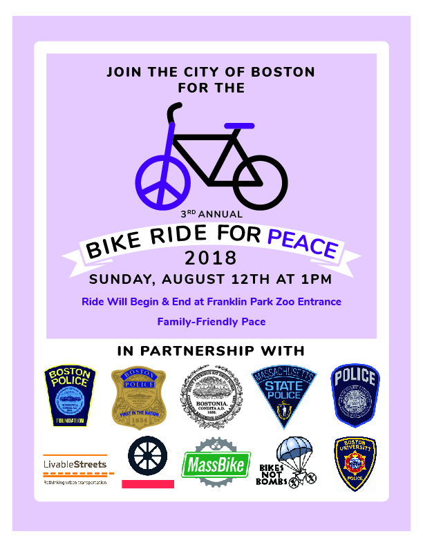 Join Us for the Upcoming Bike Ride for Peace in Dorchester!