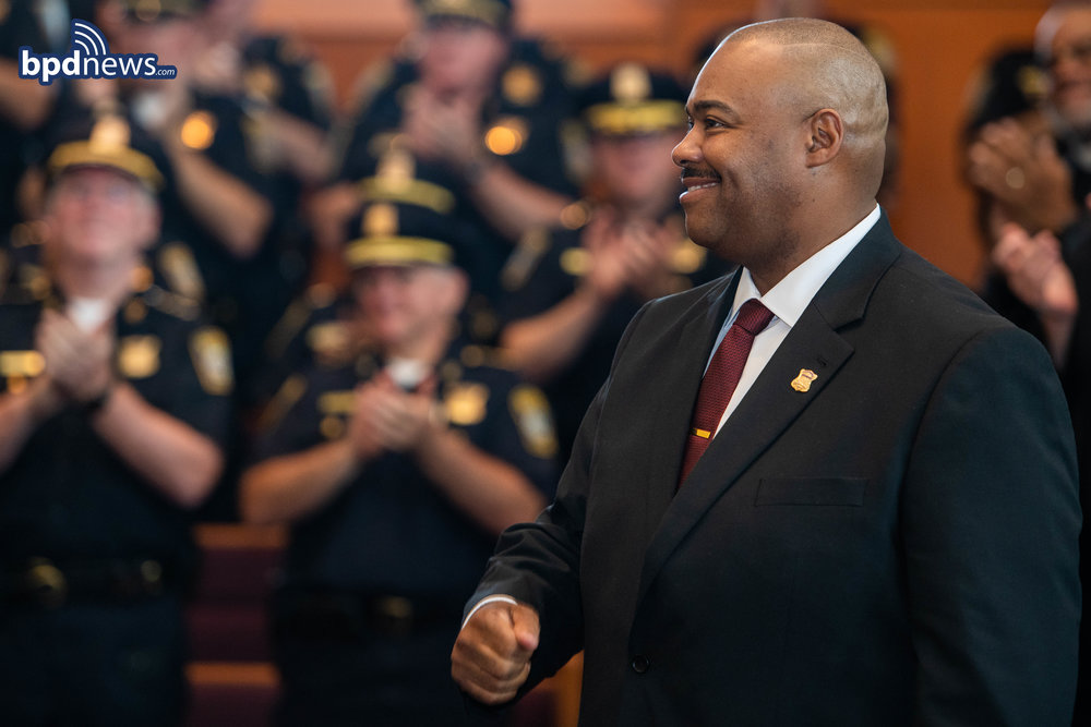 Photos of the Day: Mayor Martin J. Walsh Appoints William G. Gross as the First African American Police Commissioner for the City of Boston