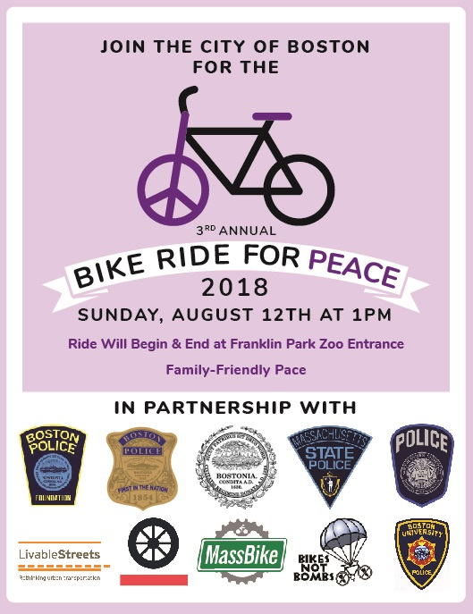 Join Us Tomorrow (August 12, 2018) for the 3rd Annual Bike Ride for Peace in Dorchester!!!