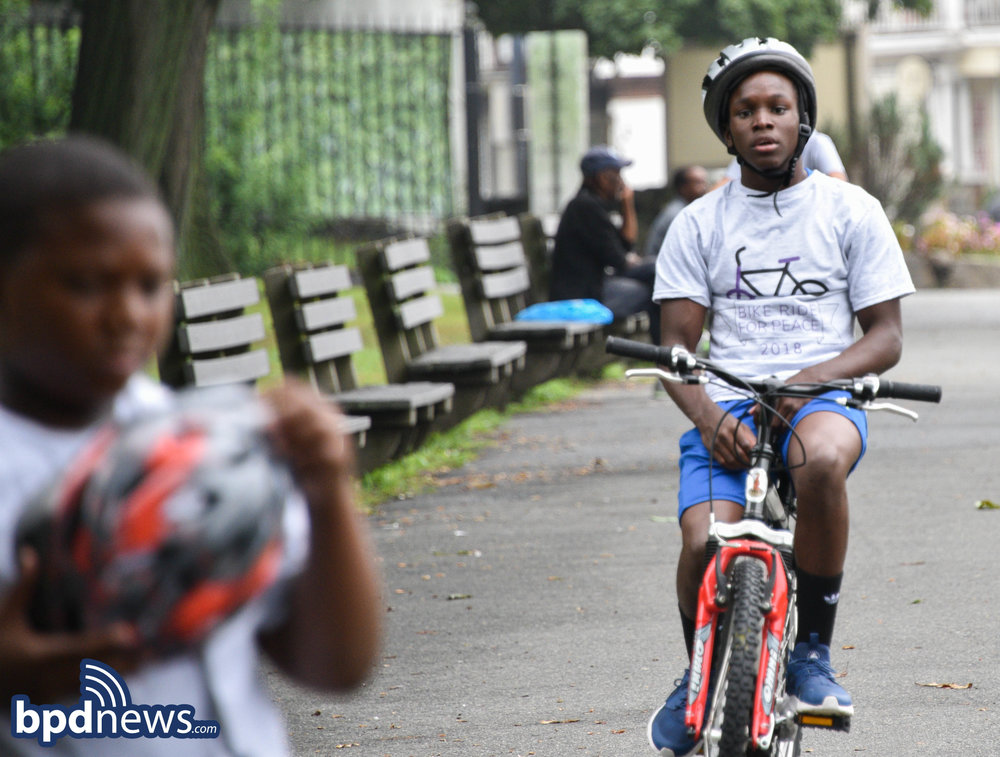 BPD in the Community: The City of Boston Celebrated it's 3rd Annual Bike Ride for Peace in Dorchester Today