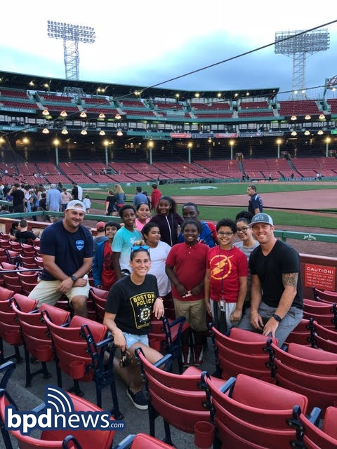 BPD Photo of the Day: Movie Night at Fenway Park!