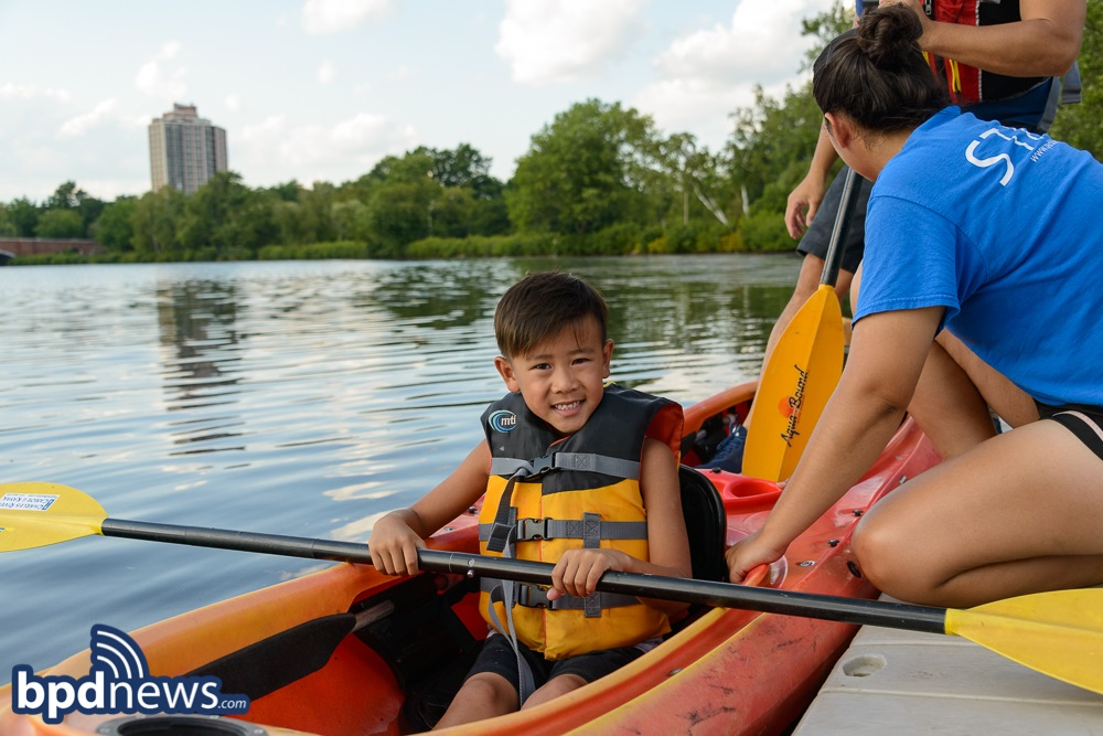 BPD in the Community: Cops and Community Members Have a Great Time Kayaking on the Charles River