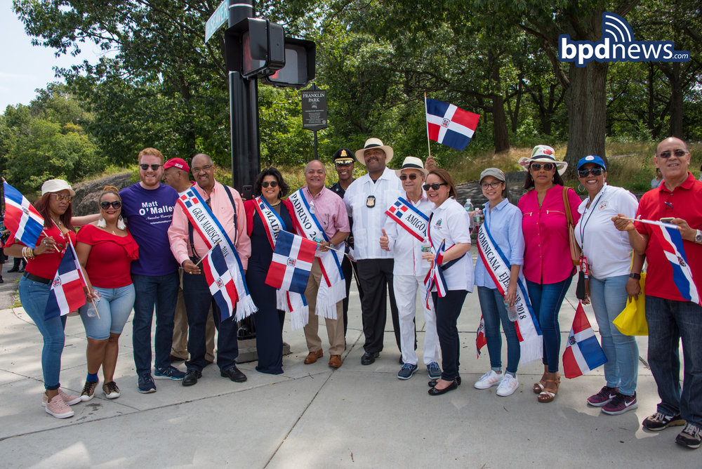 BPD in the Community: BPD Officers and Community Members Join Together for Dominican Festival of Boston 2018 held in Jamaica Plain